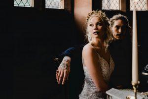 dragon princess, urban bride, tatoed bride, wedding with a difference, strong makeup, bridal makeup, boho makeup, wedding makeup, peckforton castle, weddings at peckforton castle, makeup artist peckforton castle